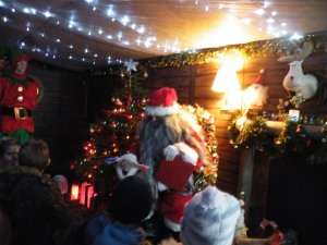 santa in grotto